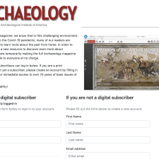 [Tools] Limited on-line free access to Archaeology.org back issue